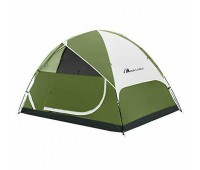 MOON LENCE Camping Tent 2/4/6 Person Family Double Layer Outdoor Green Orange